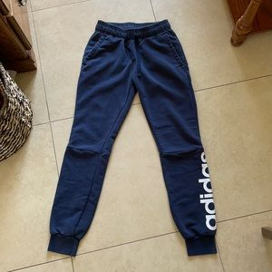 Navy Adidas Track Pants - Size XS
